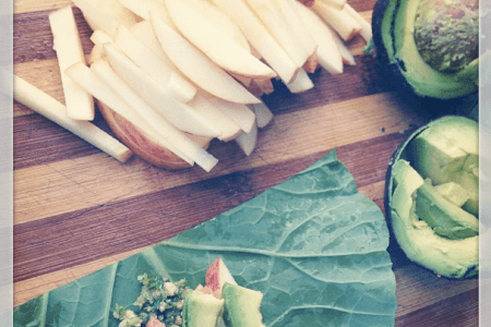 Raw Recipe: Apple Avocado Collard Wraps thumbnail