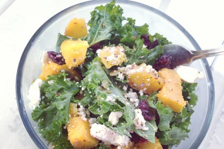 Kale Squash Salad Recipe thumbnail