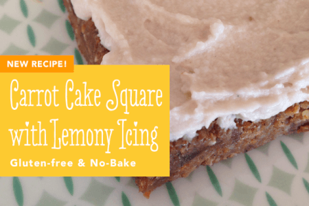 Raw Carrot Cake Square with Lemony Icing thumbnail