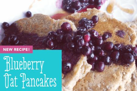 Gluten-free Vegan Blueberry Oat Pancakes thumbnail