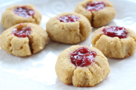 Gluten-free Raspberry Jam Cookies thumbnail