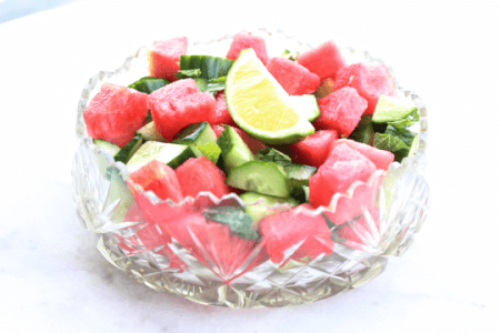 Super Hydrating Salad: Watermelon Cucumber & Mint thumbnail