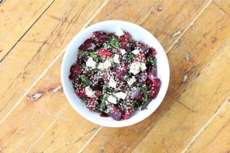 Warm Beet Kale Bowl Recipe thumbnail