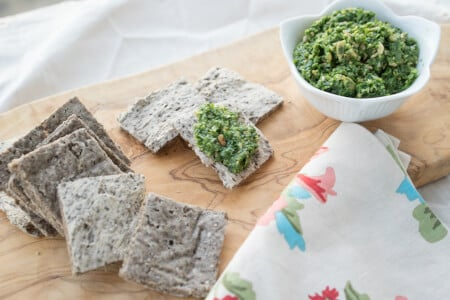 Rosemary Buckwheat Chia Crackers thumbnail
