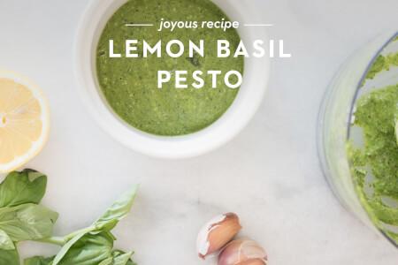 Lemon Basil Pesto thumbnail