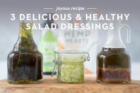 3 Delicious & Healthy Salad Dressings thumbnail