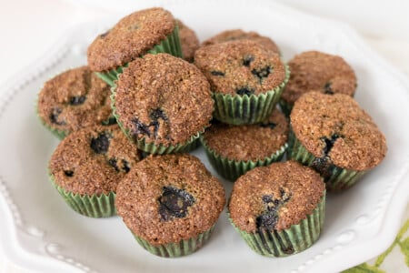 Blueberry Flax Oat Bran Muffins thumbnail