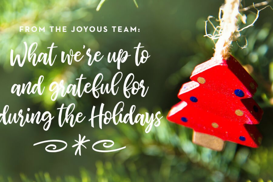 From The Joyous Team: What We're Up To & Grateful For During The Holidays thumbnail