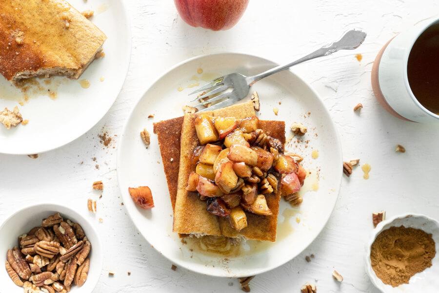 Baked Apple Cinnamon Pancakes thumbnail