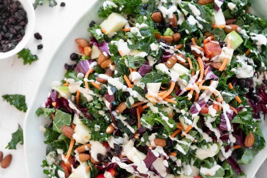 Creamy & Dreamy Kale Salad  thumbnail