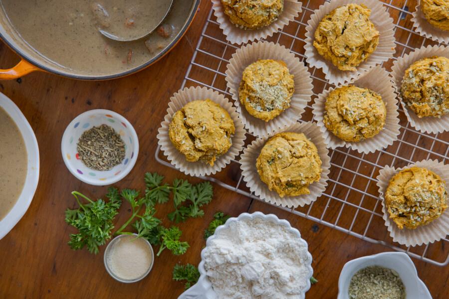 Savoury Sweet Potato Biscuits thumbnail
