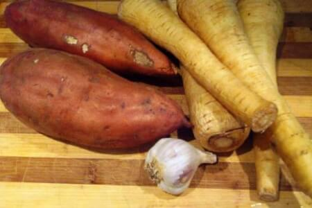 Comfort Food recipe Alert: Sweet Potato Parsnip Soup thumbnail