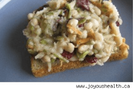 Gluten-free Chick Pea Apple Slaw Sandwich thumbnail