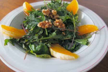 Orange Infused Walnut Kale Salad Recipe thumbnail
