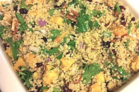 Festive Quinoa Dish: Butternut Squash Cranberry Pecan thumbnail