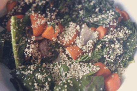 Sauteed Coconut Greens with Hemp Seeds Recipe thumbnail